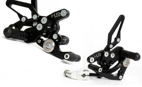 SCM-Superbike-Fussrastenanlage für Aprilia RSV 4 R und Factory